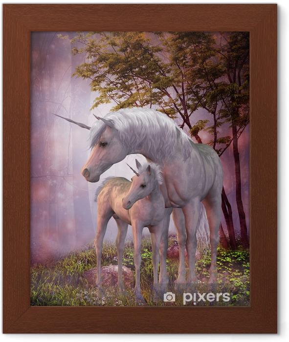 Poster in Cornice Unicorn Mare e Foal - Temi