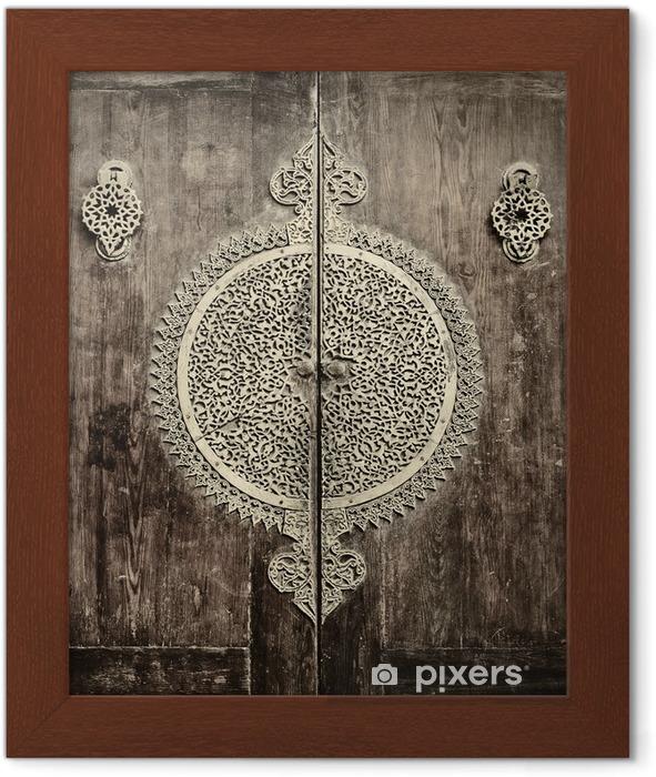 Poster en cadre Gros plan image de portes anciennes - iStaging