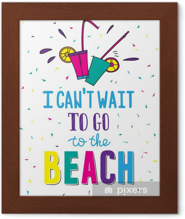Hand drawn summer poster with quote Framed Poster - Hobbies and Leisure