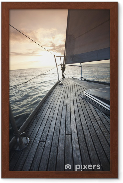 Yacht Framed Poster - Croatia