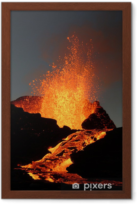 volcan 6 Framed Poster - Natural Disasters