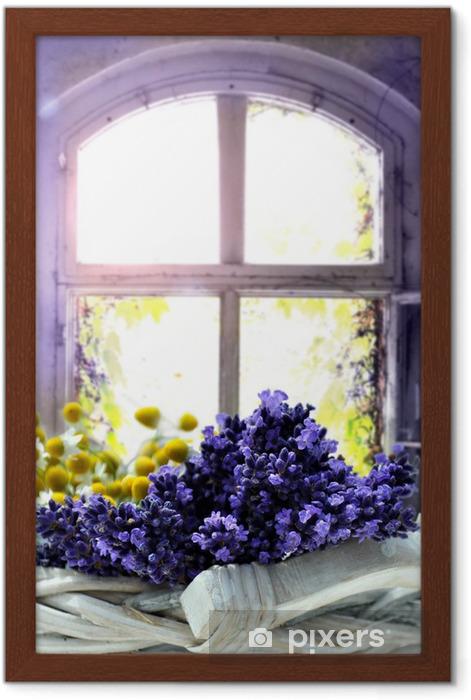 Gerahmtes Poster Lavendel - Kräuter