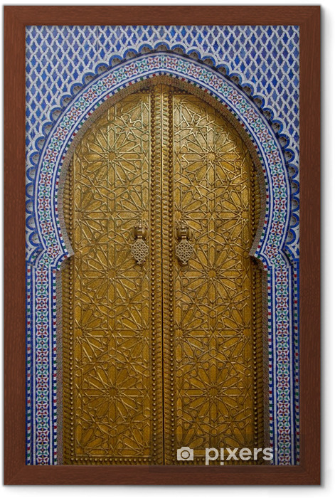 Póster Enmarcado Morooco Puerta - Temas
