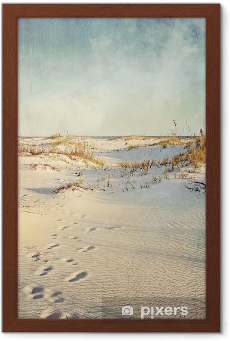 Plakat w ramie Wydmy w Sunset teksturą obrazu - Wakacje