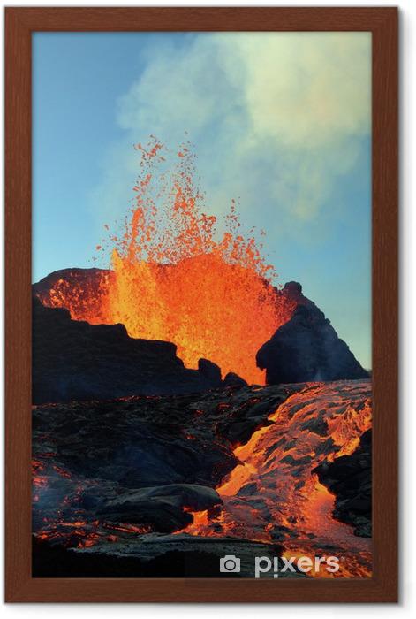 éruption volcanique Framed Poster - Natural Disasters