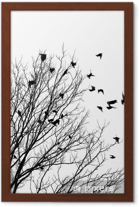 Ingelijste Poster Vliegende vogels - Stijlen