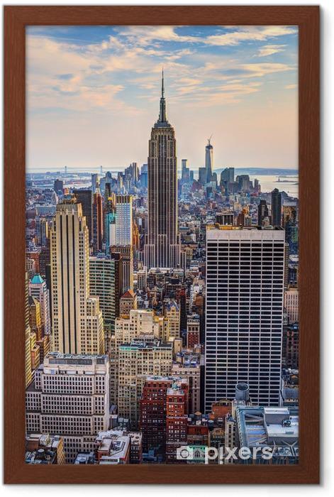 Póster Enmarcado New York City en la oscuridad -