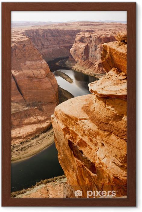 Deep Canyon Colorado River Desert Southwest Natural Scenic Lands Framed Poster - Wonders of Nature