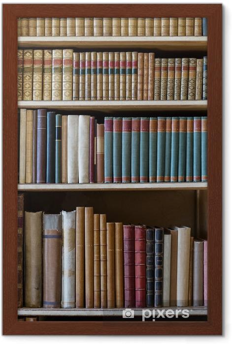 Poster en cadre Livres ancien - Bibliothèque