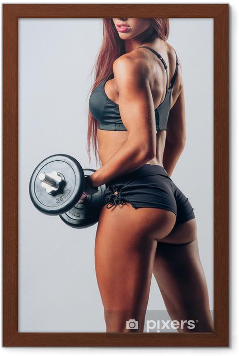 Poster en cadre Musculation femme - Santé