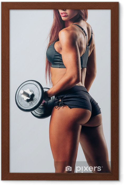 Póster Enmarcado Fitness mujer - Salud