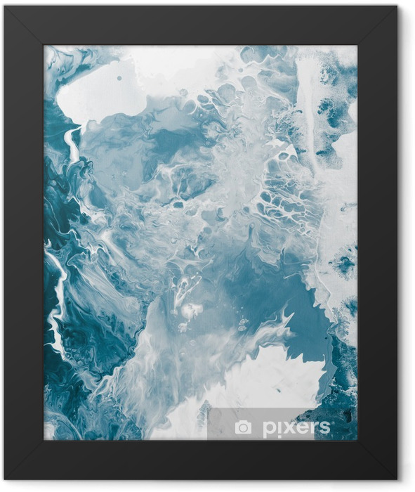 Blue marble texture. Framed Poster -