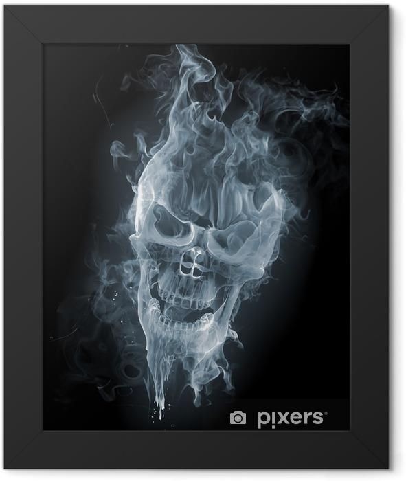 Skull - smoke Framed Poster - International Celebrations