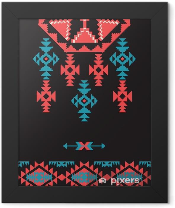 Plakat w ramie Projektowanie w stylu Navajo - Zasoby graficzne