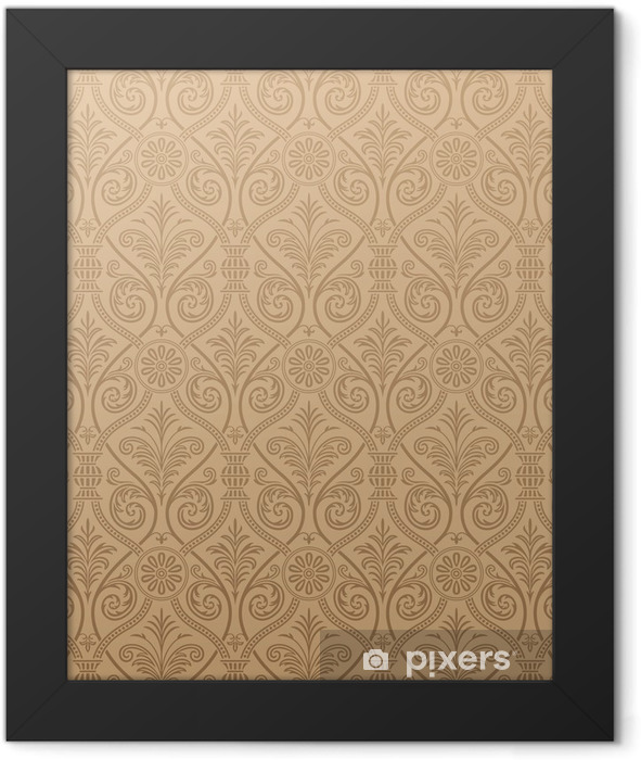 Seamless gothic Damask Wallpaper Framed Poster - Themes