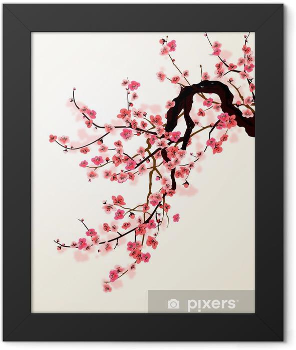 Ingelijste Poster Sakura - Stijlen