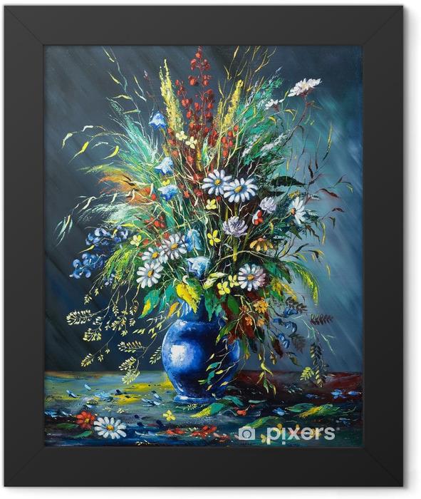 Poster en cadre Bouquet de fleurs sauvages dans un vase - Styles