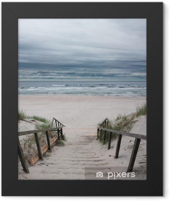 Beach - Baltic Sea Framed Poster - Sea and ocean