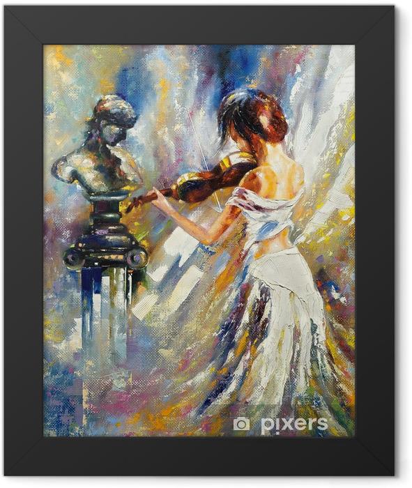 Plakat w ramie Dziewczyna gra na skrzypcach - Style