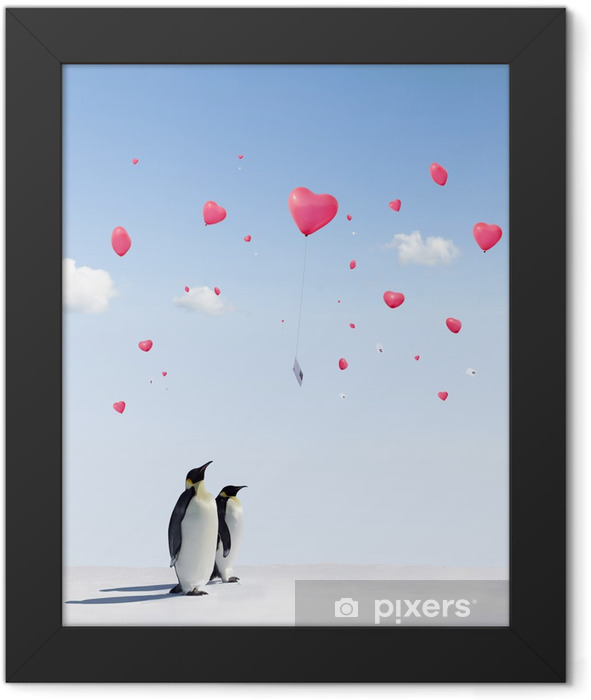 Balloon Love Letters Framed Poster - Birds