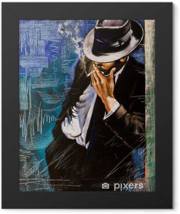 Poster en cadre Portrait de l'homme avec une cigarette - Styles