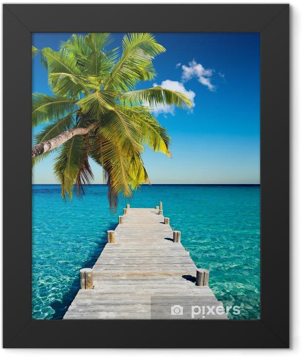 Plakat w ramie Wakacje na plaży kokosowego -