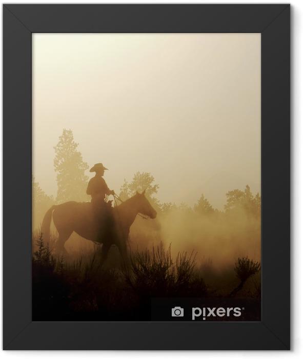 Peaceful Cowboy Framed Poster - Mammals