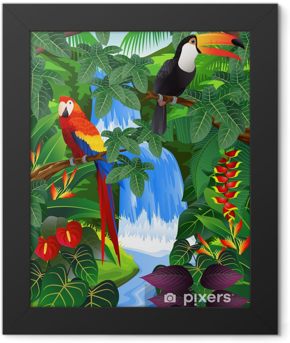Beauiful tropical background Framed Poster - Themes