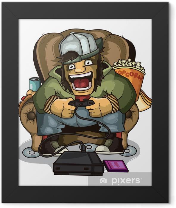 Gamer screaming Framed Poster - Games
