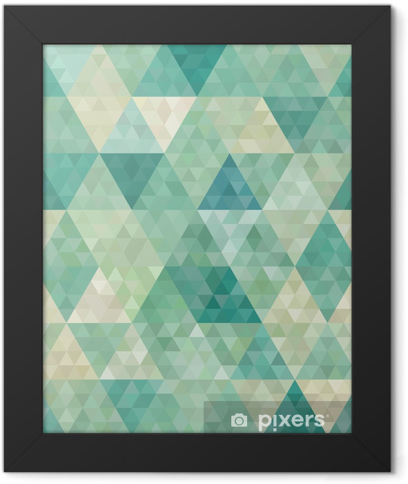 seamless background with abstract geometric ornament Framed Poster - Styles