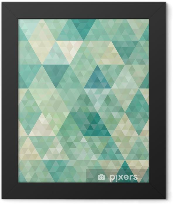 Poster en cadre Arrière-plan transparent avec ornement géométrique abstrait - Styles