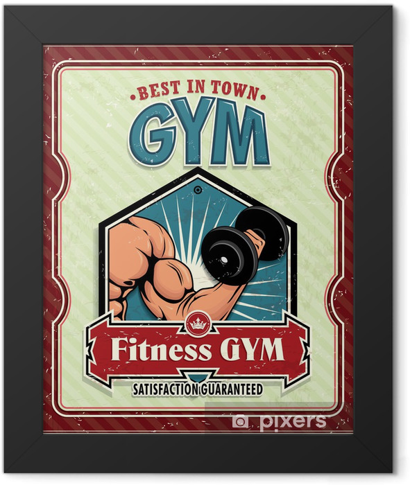 Vintage Fitness Club poster Framed Poster - Individual Sports