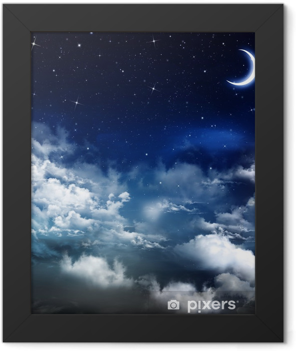 beautiful background, nightly sky Framed Poster - Themes