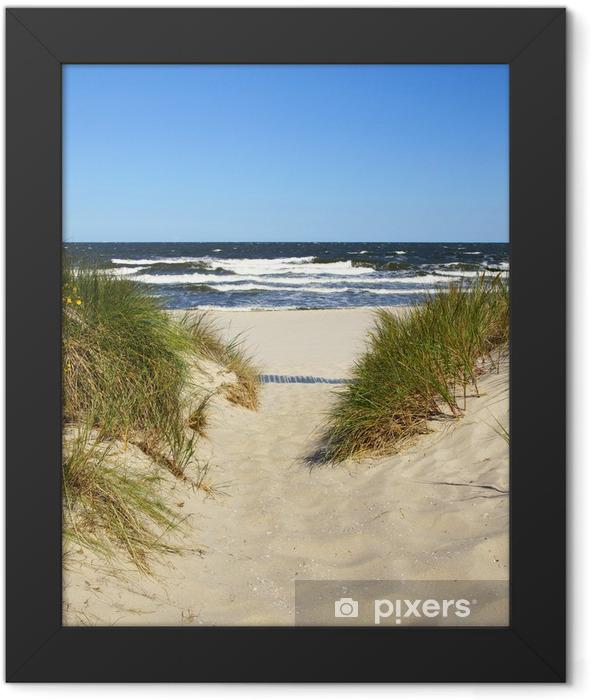Der Weg zum Strand Framed Poster - Summer