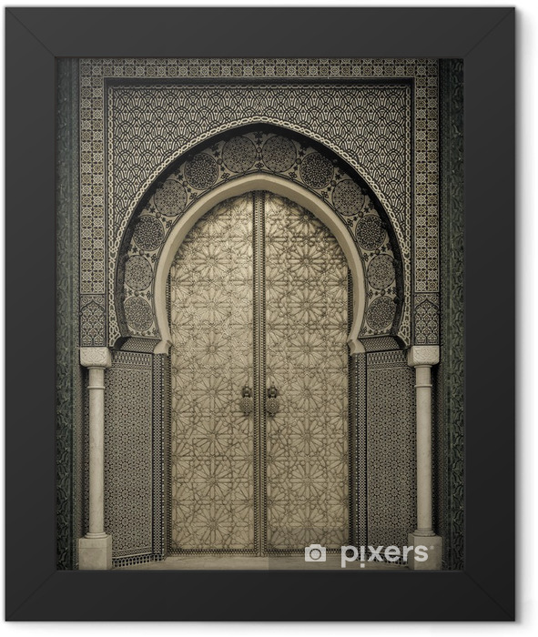 Ancient doors, Morocco Framed Poster - Themes