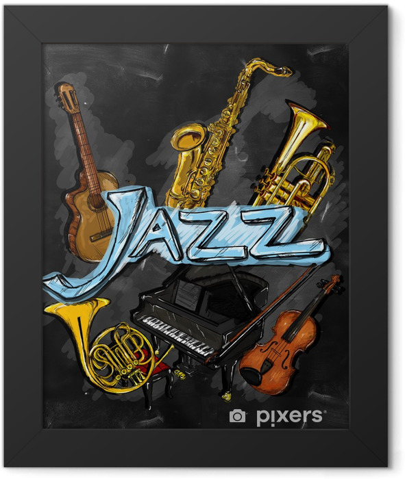 Jazz Painting Instrument Framed Poster - Jazz