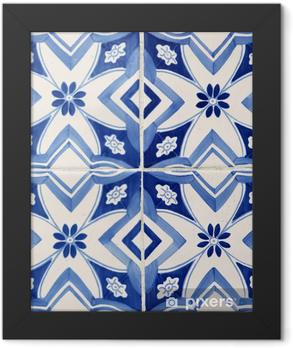 Traditional tiles from Porto, Portugal Framed Poster - iStaging