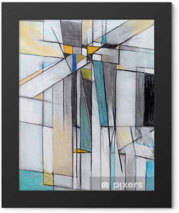 A Charcoal and Pastel Study for an Abstract Painting Framed Poster - Themes