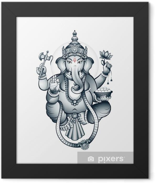 Indian elephant-head God Ganesha Framed Poster - Styles