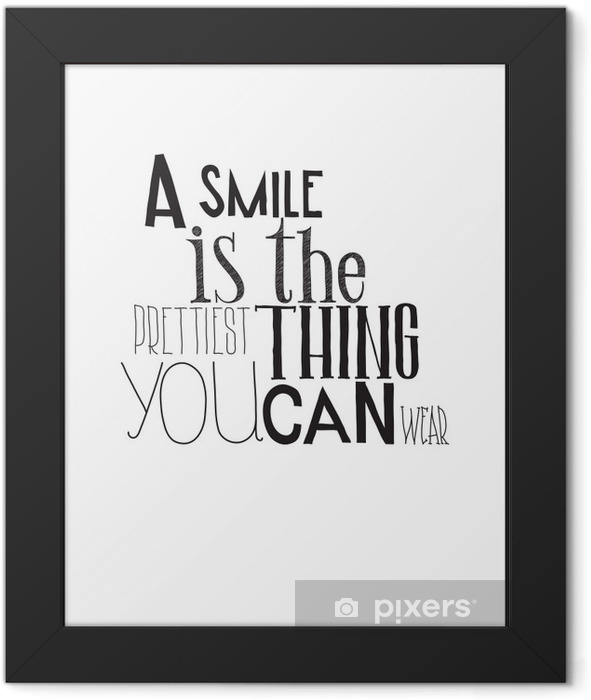 Simple black and white poster with a motivational phrase Framed Poster -