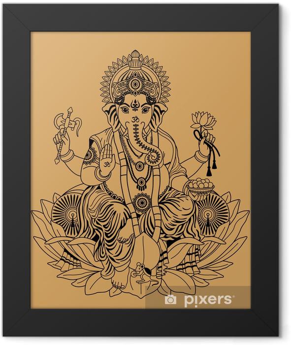 Ganesha Framed Poster - Religion