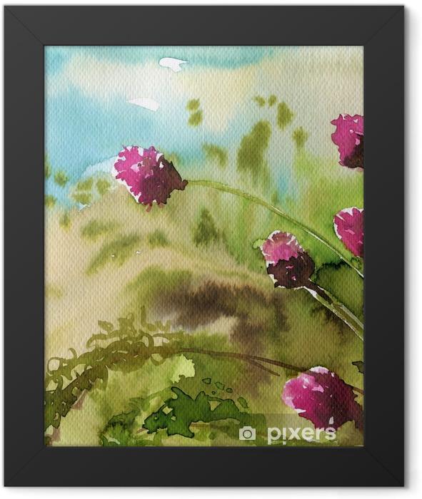 Plakat w ramie Koniczyna, różowe, - Zasoby graficzne