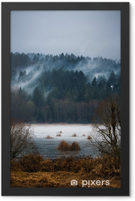 Autumn Fogs / Mists of Vancouver Island Framed Poster - Landscapes