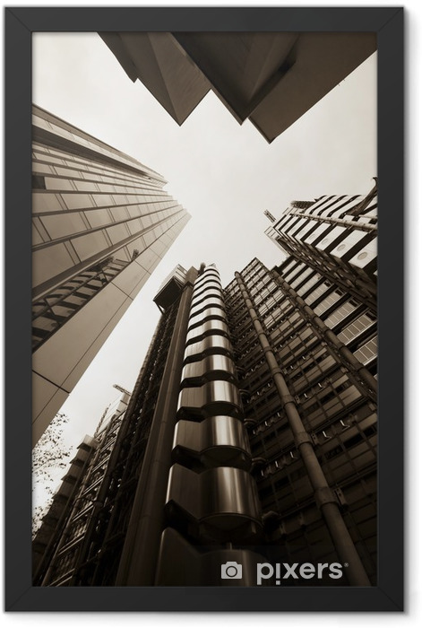 Skyscrapers in Sepia Tone Framed Poster - Themes