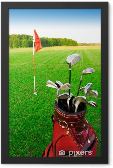 Golf game. Framed Poster - Golf