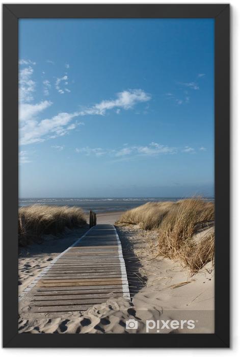 Plakat w ramie Plaże Morza Północnego na Langeoog -
