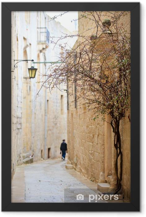 Mdina street Framed Poster - Europe