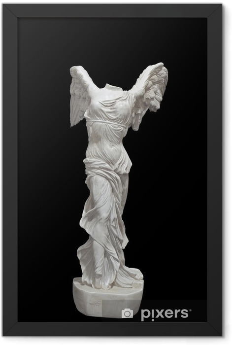 Greek classical statue of 'Nike' from Samothrace Framed Poster - Art and Creation