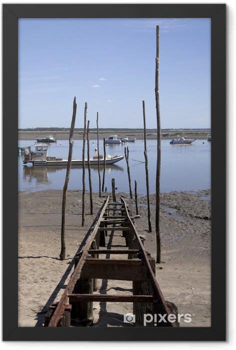 Poster en cadre Culture ostréicole Dans Le bassin d'Arcachon - Infrastructures