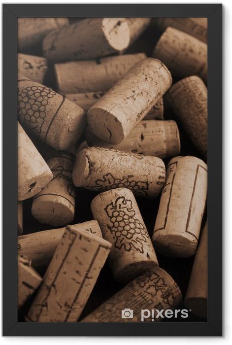 Wine corks Framed Poster -